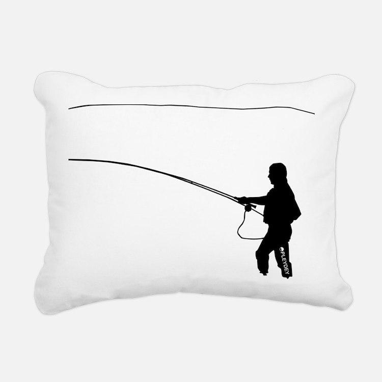 BIG_Flyfishing_Black_1 Rectangular Canvas Pillow