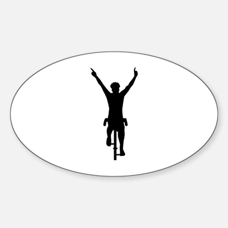 Cyclist winner Decal