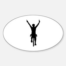 Cyclist winner Sticker (Oval)