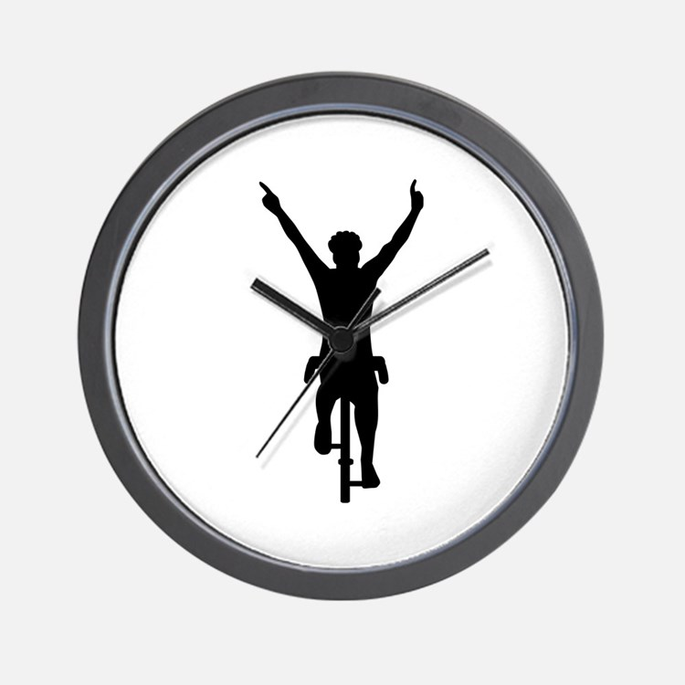Bike Design Wall Clock : Bicycle racing clocks wall large