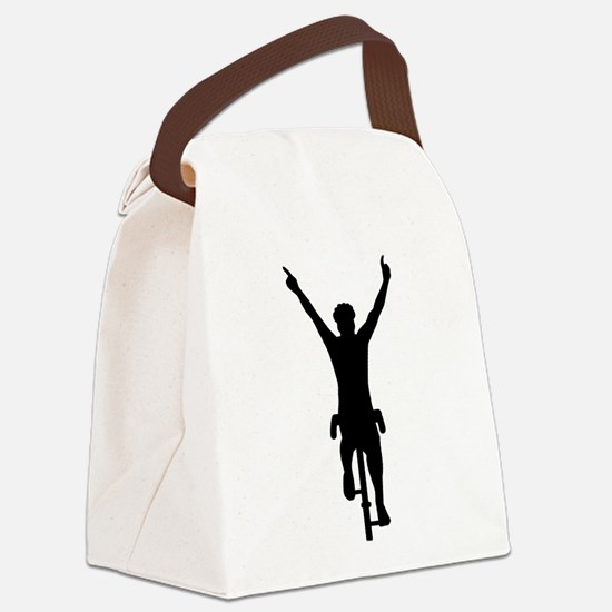 Cyclist winner Canvas Lunch Bag