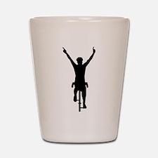Cyclist winner Shot Glass