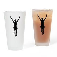 Cyclist winner Drinking Glass