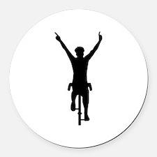 Cyclist winner Round Car Magnet