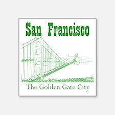 "GoldenGateBridge_10x10_appa Square Sticker 3"" x 3"""
