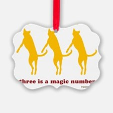 Magic Number 3 Flying Tripawds Wh Ornament