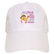 Mad Chick 3L Breast Cancer Baseball Cap