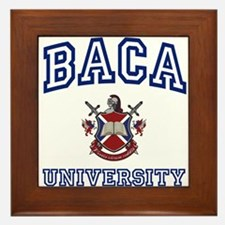 BACA University Framed Tile