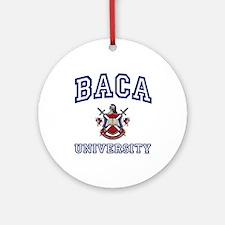 BACA University Ornament (Round)