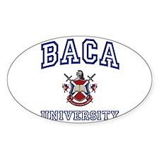 BACA University Oval Decal