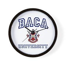 BACA University Wall Clock
