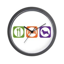 Eat Sleep Terrier Wall Clock