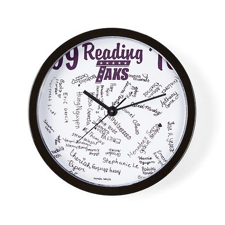 purp hun backpng Wall Clock