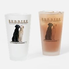 buddies-two_dogs 2 copy Drinking Glass
