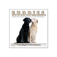 "buddies-two_dogs 2 copy Square Sticker 3"" x 3"""