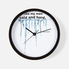 Cold and Hard Wall Clock