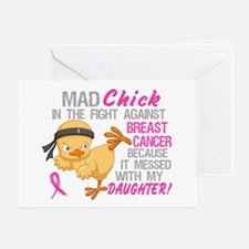 Mad Chick 3L Breast Cancer Greeting Card