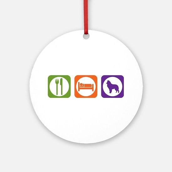 Eat Sleep Sheepdog Ornament (Round)