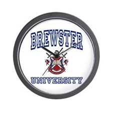 BREWSTER University Wall Clock