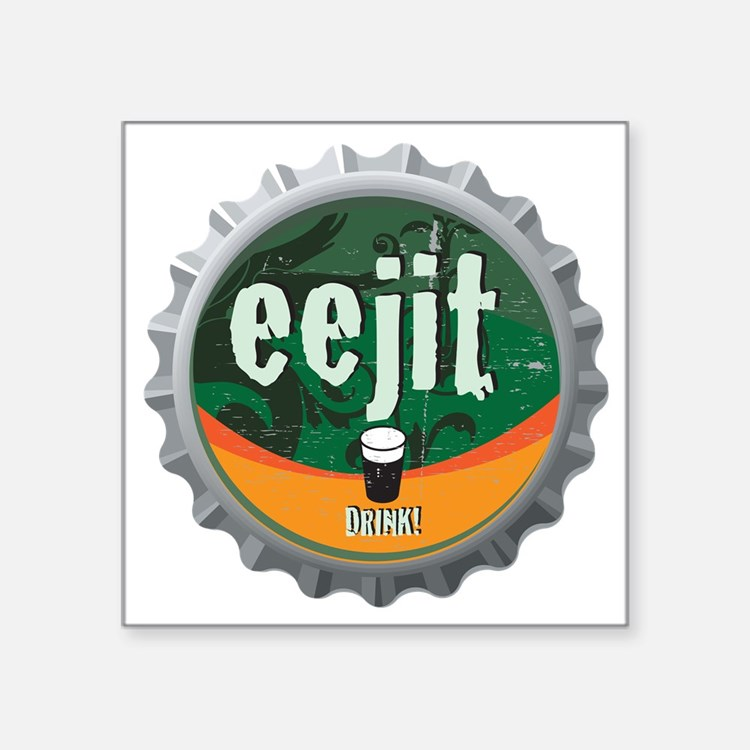 """EEJIT_CAP Square Sticker 3"""" x 3"""""""