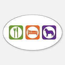 Eat Sleep Bernese Oval Decal