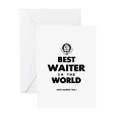 The Best in the World – Waiter Greeting Cards