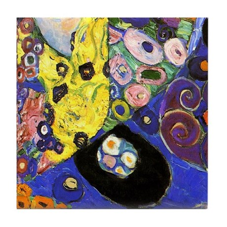 Klimt 6 Art Tile Set - The Virgin (Maiden) P5of6