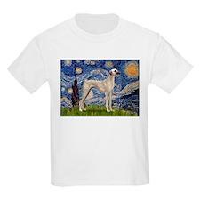 Starry Night Sloughi Kids T-Shirt