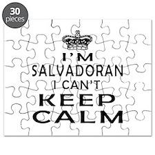 I Am Salvadoran I Can Not Keep Calm Puzzle