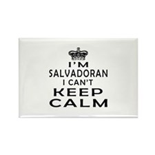 I Am Salvadoran I Can Not Keep Calm Rectangle Magn