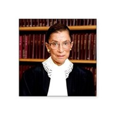 "ART Coaster Ruth Bader Gins Square Sticker 3"" x 3"""