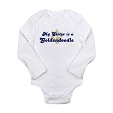 My Sister: Goldendoodle Infant Creeper Body Suit