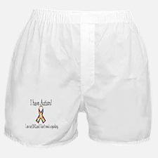I have autism... I am not bad Boxer Shorts