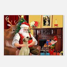 Santa's Sloughi Postcards (Package of 8)