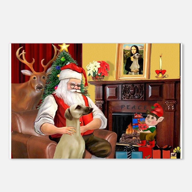 Santa's Sloughi Postcards (Package of 8)