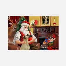 Santa's Sloughi Rectangle Magnet