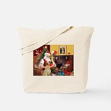 Santa's Sloughi Tote Bag