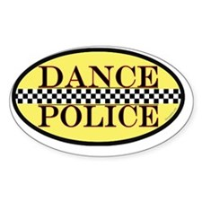 dance police euro sticker gold tran Decal