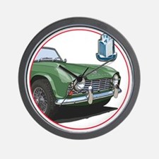 TR4green-C8trans Wall Clock