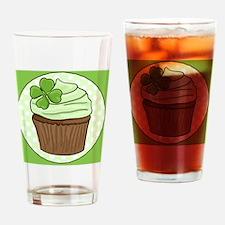 St. Pattys Cupcake Drinking Glass