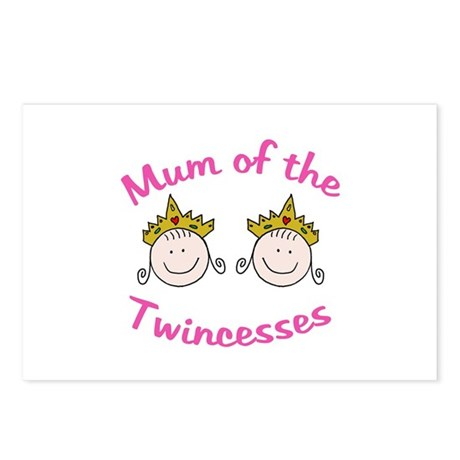 Mum of Twincesses Postcards (Package of 8)