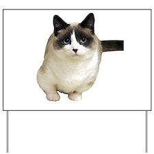 cat look forward to love Yard Sign