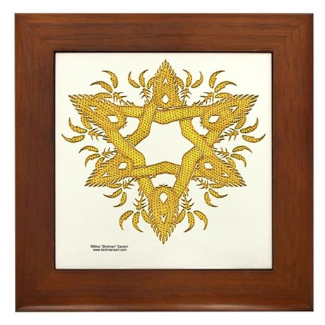 Dragon Scale Knot Framed Tile
