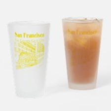 CableCar_10x10_apparel_YellowOutlin Drinking Glass