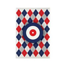 Norwegian Curling Argyle pattern Rectangle Magnet