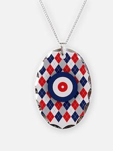 Norwegian Curling Argyle patte Necklace