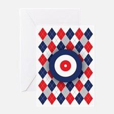 Norwegian Curling Argyle pattern Greeting Card