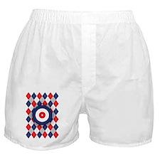 Norwegian Curling Argyle pattern Boxer Shorts