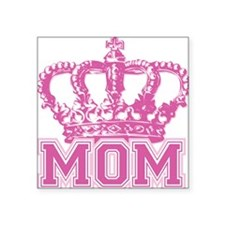 "crown_mom Square Sticker 3"" x 3"""