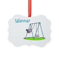 boy-on-swing Ornament